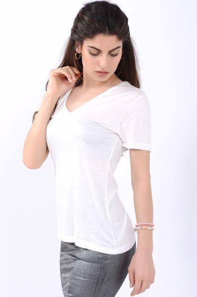 Bayan Tisort V Yaka Beyaz T Shirt Genc Modavigo Kapali Hamile Rahat Indirim Dikis Kadin Style Spor Muhafazakar Alisveris Ki Kadin V Yaka Tisort