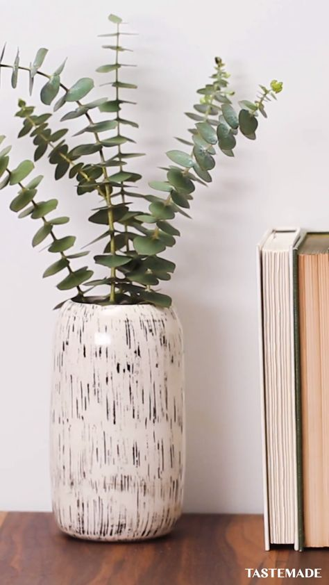 Put a pin to your ceramics for a totally texturized, Pinterest-worthy Home Decor DIY.