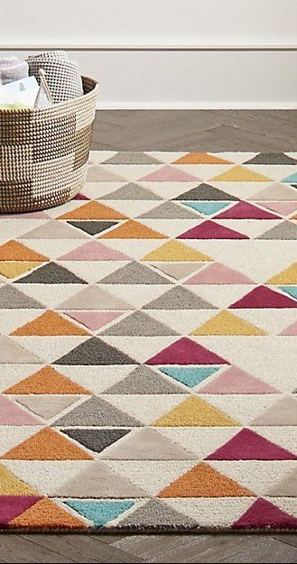 4 X 6 Triangle Rug Reviews Crate And Barrel Triangle Rug Rugs Wool Rug