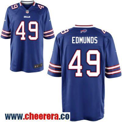 brand new de596 9111e Men's Buffalo Bills #49 Tremaine Edmunds Royal Blue Team ...