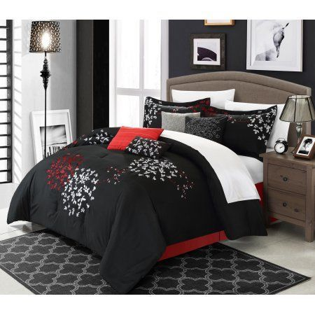 Chic Home 12 Piece Chelsia Oversized And Overfilled Heavy Embroidery