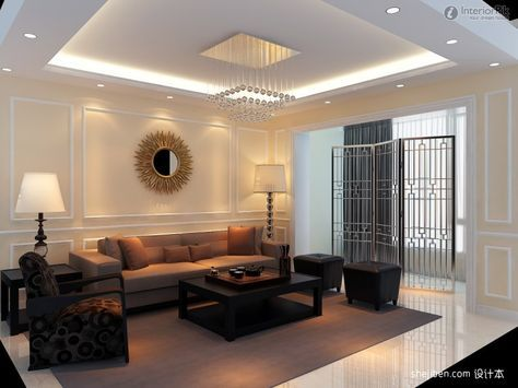 Perfect Living Room With Ceiling Treatment Design Ceiling Design