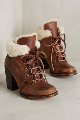 Freebird by Steven Swiss Booties Brown 10 Boots #anthroregistry