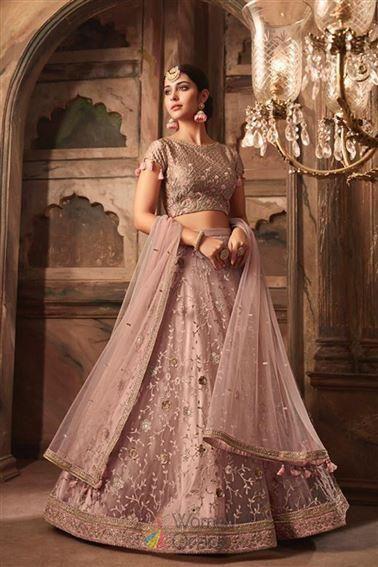 Latest Trendy Rosey Brown Heavy Net Sangeet Wear Lehenga Choli In 2020 Designer Lehenga Choli Bridal Lehenga Bridal Lehenga Choli,Outdoor Stairs Design