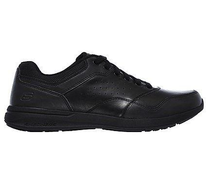 8767e556877c Skechers Men s Elent Velago Relaxed Fit Memory Foam Sneakers (Black Black)