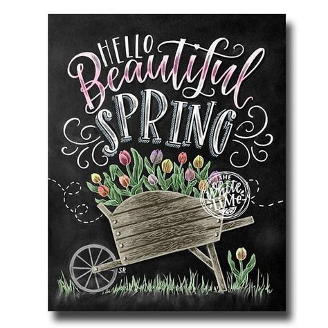 ♥️ Hello Beautiful Spring ♥️ ♥️ L I S T I N G ♥️ Each image is originally hand drawn with chalk and converted digitally. Chalkboard prints maintain the authenticity and dust of the original drawing smudge free. All prints are printed on Deep Matte Fujicolor Crystal Archive Professional