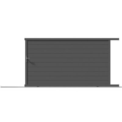 Portail Coulissant Aluminium Alpes Gris Antique 400 X H 171 Cm En 2020 Portail Coulissant Portail Et Castorama