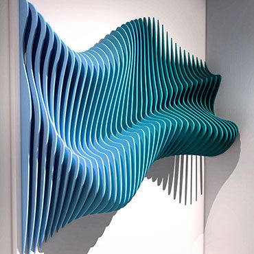 We deal with interior design of both private and commercial spaces and approach each project with an open mind to create something beautiful Wooden Wall Art, Wooden Walls, Wall Sculptures, Sculpture Art, Style Deco, Parametric Design, Decoration Originale, Installation Art, Wall Design