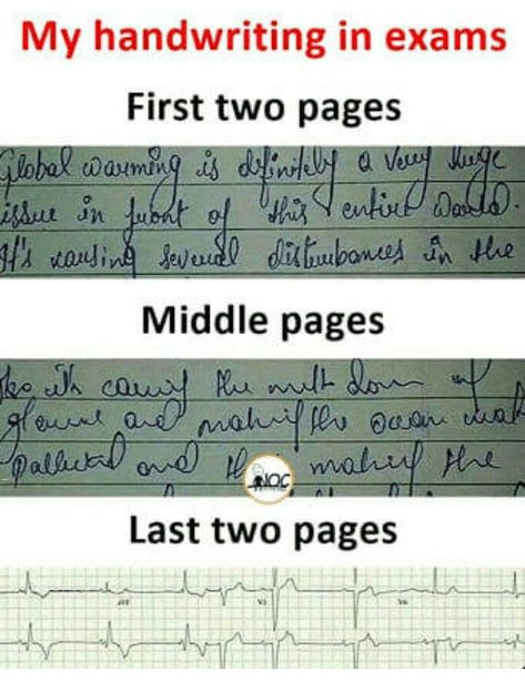 My Handwriting in Exams First Two Pages 0 Middle Pages Last Two Pages | Pages Meme on ME.ME