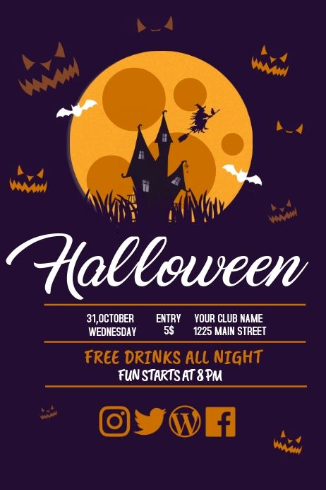 Halloween 2020 Party Flyer Event flyer, Party flyer, Halloween flyer in 2020 | Party flyer