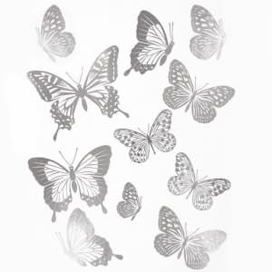Main Street Wall Creations Rose Gold Butterflies Wall Stickers Butterfly Wall Butterfly Wall Stickers Wall Creations