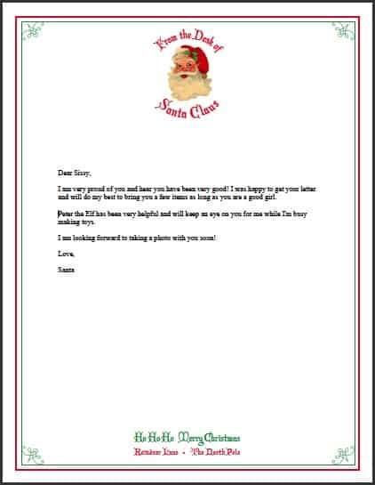 45++ Printable letter from santa north pole inspirations