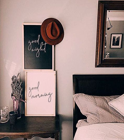 Good Morning | Good Night Modern Wood Signs | Boho Home Decor Bohemian Living | Plant Decor | Boho Living Room Ideas | Boho Decor Ideas | Boho Interior | Scandinavian Interior Design | Hyge Home | West Elm Home Decor Ideas | Apartment Therapy | Fixer Upper Living Room | Fixer Upper Home Decor | Joanna Gaines Style