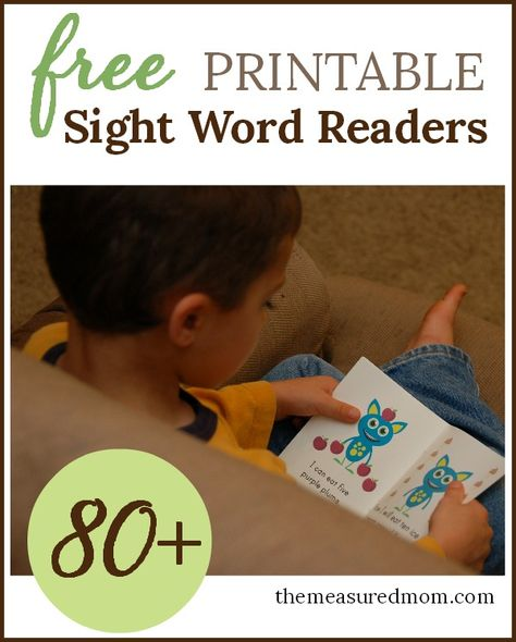 Free sight word readers!