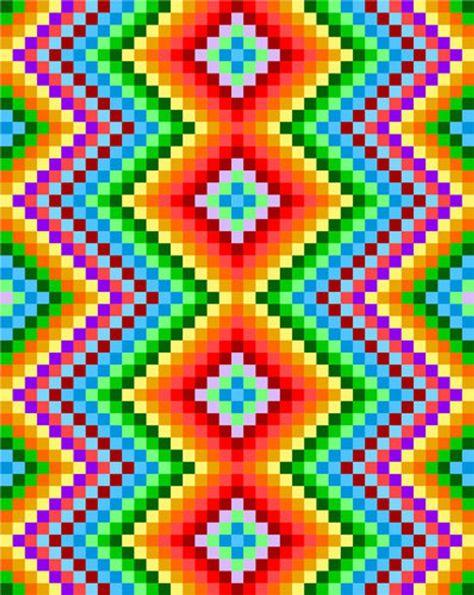 0077 Zig Zag Rainbows Quilt Pattern | Etsy