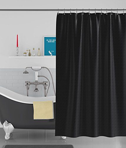 Haoser Box Textured Black Anti Bacterial Water Repellent Https Www Amazon In Dp B07jz8j6j4 Ref Cm Sw R Shower Curtain 48 Inch Shower Cool Shower Curtains