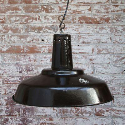 Vintage Industrial Brown Enamel Pendant Light For Sale At Pamono Vintage Pendant Lighting Pendant Light Industrial Ceiling Lights