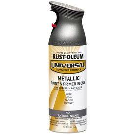 Rust Oleum 11 Oz Antique Nickel Flat Spray Paint Lowes