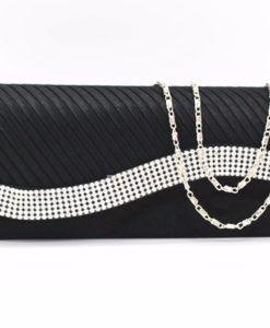 Dress black and rhinestone evening bags