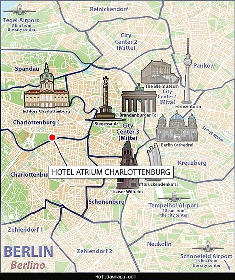 nice Berlin Map Tourist Attractions | Holidaymapq in 2019 ...
