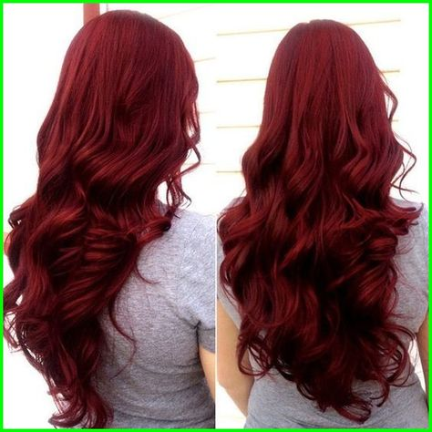 Crimson Color Hair 4796 Pin by Modern Hairstylers On Wavy Haircut Styles In 2019