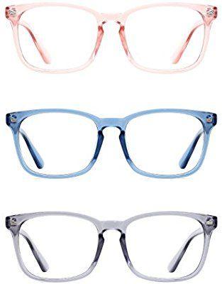 86a4d80e55 Amazon.com  TIJN Unisex Wayfarer Non-prescription Eyeglasses Clear Lens  Glasses for Women Pink Frame  Sports   Outdoors