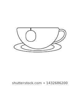 Simple Cup Of Tea Drawing