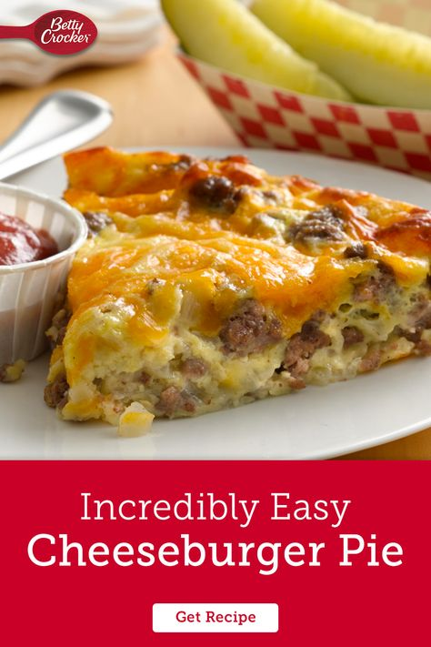 Our Bisquick cheeseburger pie is incredible for so many reasons, but we'll let you decide which one is your favorite. Of all the ground beef recipes, hamburger recipes, or meat pie recipes around we think this one takes the prize for serving up so many different family favorites all in one savory slice.