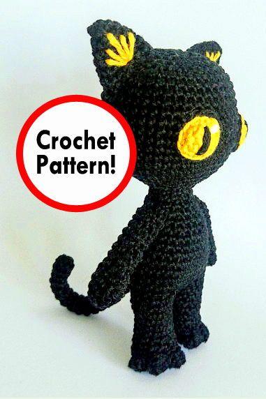 Black Cat Free Crochet Patterns | Free crochet pattern, Crochet ... | 572x381