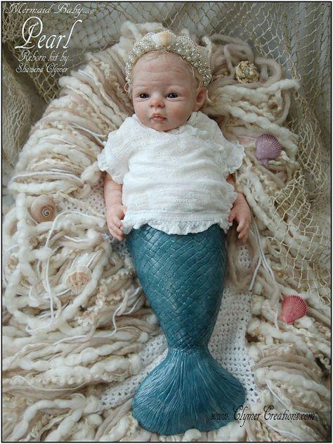 Mermaid Mishell LE BLANK-parts Reborn kit 2015 AWARD Winner by Shawna Clymer :-