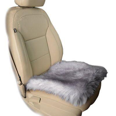 Super Zone Tech Gray Faux Sheepskin Car Seat Home Cushion Fur Pad Inzonedesignstudio Interior Chair Design Inzonedesignstudiocom