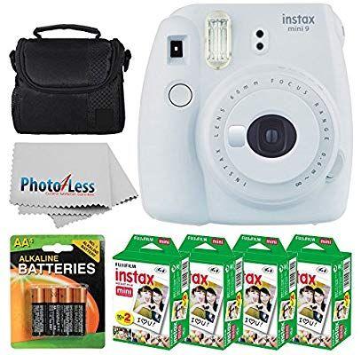 Fujifilm Instax Mini 9 Instant Film Camera Smokey White Fujifilm Instax Mini Twin Pack Instant Film 8 Fujifilm Instax Mini Instax Instax Mini