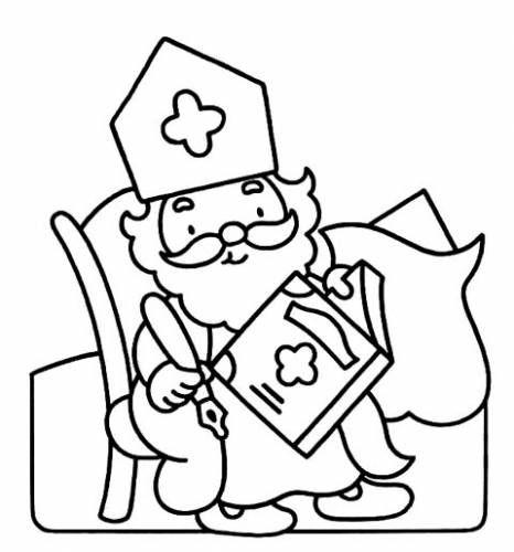 Kleurplaten Sinterklaas Slingers.Kleurplaten Sinterklaas Voor Peuters Peuters Sint