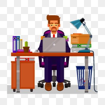 Vector Flat Illustration Of A Man Working On The Computer Man Clipart Working Work Png And Vector With Transparent Background For Free Download Flat Illustration Colorful Backgrounds Man Clipart