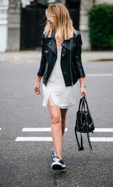 Lace & Leather - Effortlessly Cool Ways To Style A Slip Dress - Photos