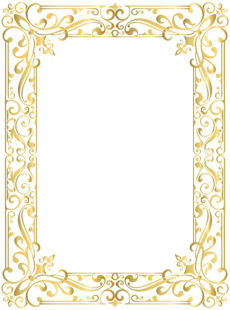 Border Frame Gold PNG Clipart Image | Gallery Yopriceville - High-Quality Images and Transparent PNG Free Clipart