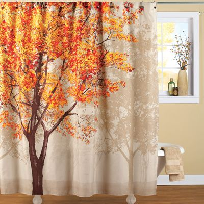 Colorful Autumn Tree Shower Curtain Tree Shower Curtains Decor