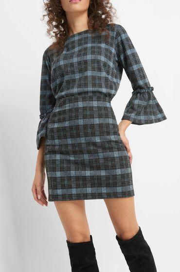 acc6edd37a27 Karierter Rock | Fashion + Beauté | Dresses, Cold shoulder dress ...
