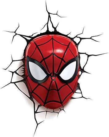 3dlightfx Marvel Spiderman Mask 3d Deco Light Spiderman Face Spiderman Bedroom Spiderman