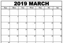 March 2019 Calendar With Holidays Free Download In 2019