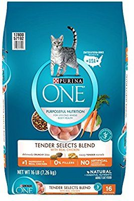Amazon Com Purina One Tender Selects Blend With Real Chicken Dry Cat Food Dry Pet Food Pet Supplies Dry Cat Food Cat Food Kitten Food