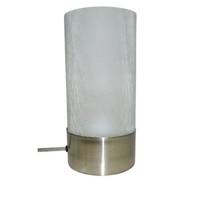 Portfolio 10 In 3 Way Brushed Nickel Standard Indoor Table Lamp With Gl Shade