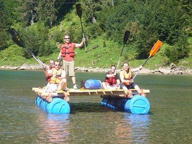 55 Gallon Plastic Drum Raft