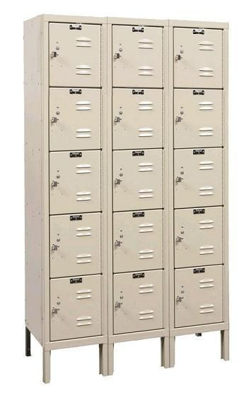 Premium Five Tier 3 Wide Lockers Assembled By Hallowell 12 W X 12 D X 12 H U3226 5a 33597 Employee Lockers Lockers School Lockers