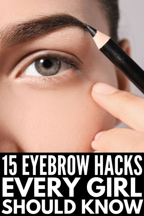 Brows on Fleek: 14 Eyebrow Hacks Every Girl Should Know Want gorgeous, thick, and natural eyebrows your friends will envy? We're sharing 14 eyebrow hacks every girl should know, and you don't want to miss out! Best Eyebrow Pencils, Eyebrow Makeup Tips, Body Makeup, Makeup Hacks, Eyeliner Hacks, Makeup For Eyebrows, Eye Brow Pencil, Eyebrow Trends, Eyebrow Tinting