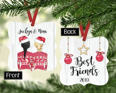 Hey, I found this really awesome Etsy listing at https://www.etsy.com/listing/722480750/personalized-best-friend-ornaments