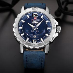 نافي فورس ساعة عملية كاجوال رجال انالوج بعقارب جلد Nf9122 1 Watches For Men Sport Watches Mens Sport Watches