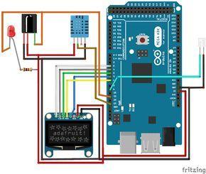 Automatic AC Temperature Controller using arduino circuit diagram