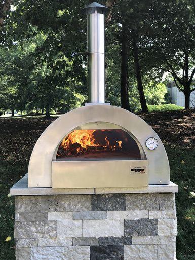 Ilfornino Largo Professional Stainless Steel Wood Burning Pizza
