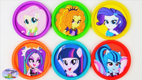 My Little Pony Equestria Girls Learning Colors Play Doh MLP Surprise
